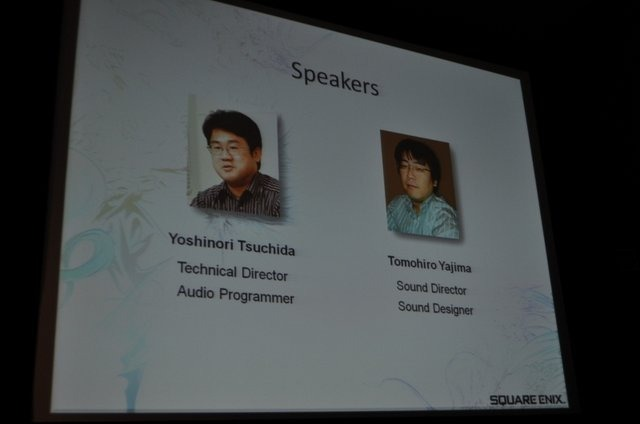 Game Developers Conference 2010、一般セッション初日の木曜日の午前一発目で開催されたのは、スクウェア・エニックスの土田善紀氏と矢島友宏氏による「FINAL FANTASY XIII's Motion Controlled Real-Time Automatic Sound Triggering System」です。こちらでは発売さ