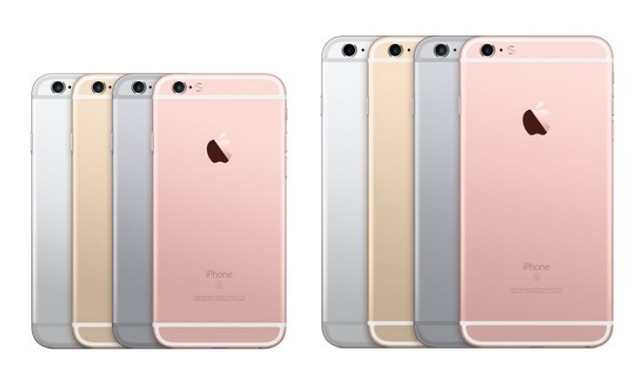 左:iPhone 6s、右:iPhone 6s Plus