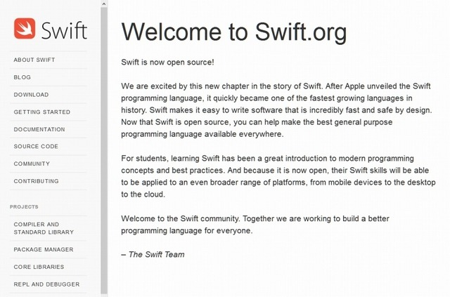 「Swift.org」サイト